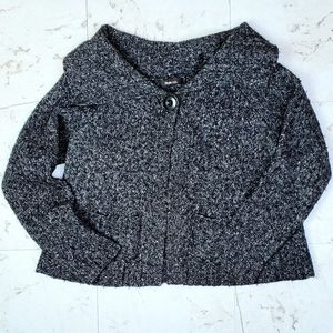 Style & Co Jacket Wide Collar Charcoal